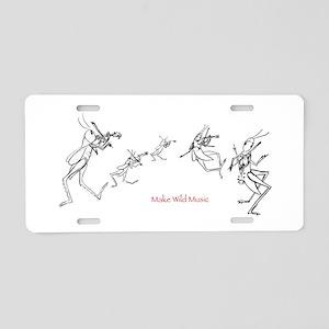 Grasshopper Fiddlers Aluminum License Plate