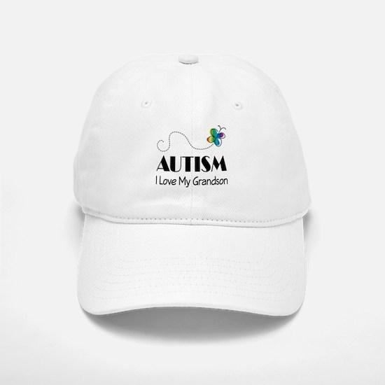 Autism I Love My Grandson Baseball Baseball Cap