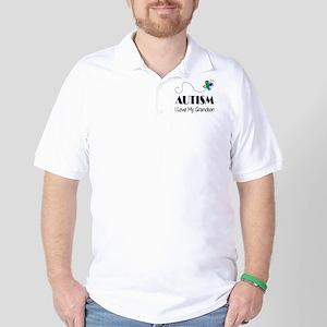 Autism I Love My Grandson Golf Shirt