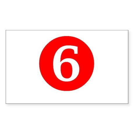 Sixth Birthday Sticker (Rectangle 50 pk)