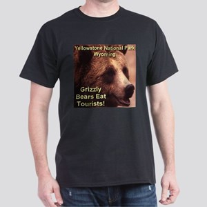 Grizzly Bears Eat Tourists Dark T-Shirt