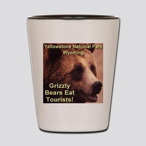 Grizzly Bears Eat Tourists Shot Glass
