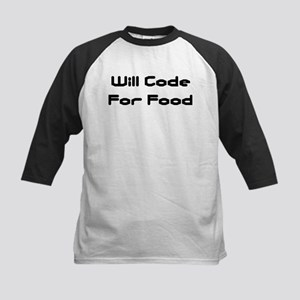Will Code For Food Kids Baseball Jersey