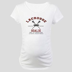 Lacrosse Goalie Maternity T-Shirt