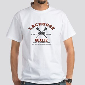 Lacrosse Goalie White T-Shirt