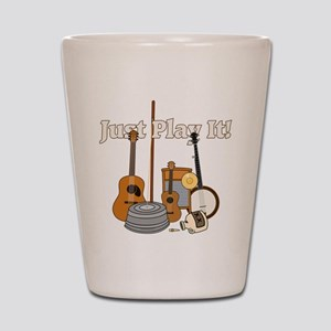 Just Play It! Shot Glass