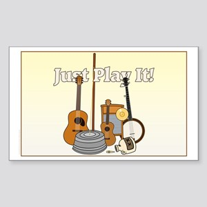 Just Play It! Sticker (Rectangle)