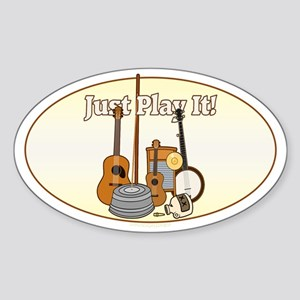 Just Play It! Sticker (Oval)