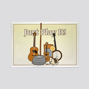 Just Play It! Rectangle Magnet