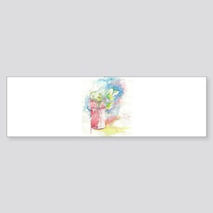 Watercolored Flower Sticker (Bumper)