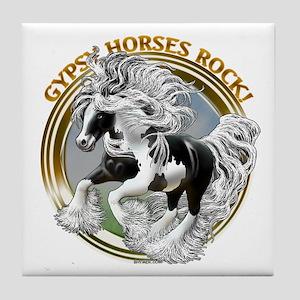 Gypsy Horses Rock Tile Coaster
