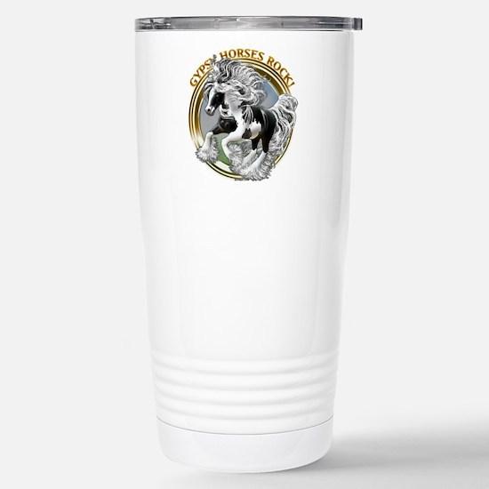 Gypsy Horses Rock Stainless Steel Travel Mug