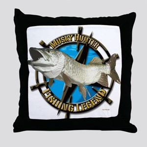 Musky Legend Throw Pillow