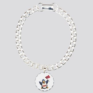 Norway Penguin Charm Bracelet, One Charm
