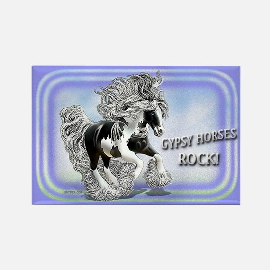 Gypsy Horses Rock Rectangle Magnet