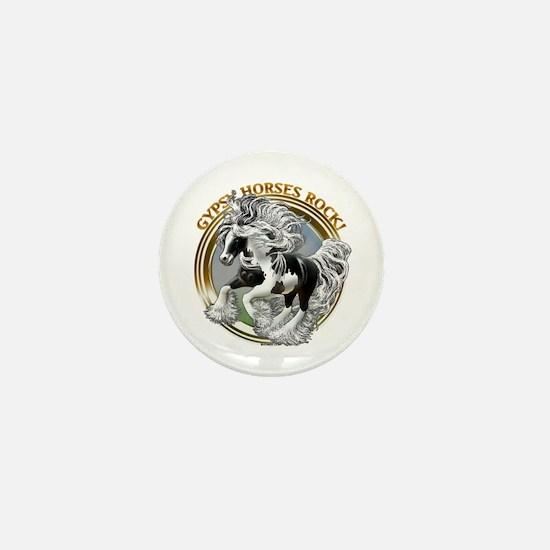 Gypsy Horses Rock Mini Button