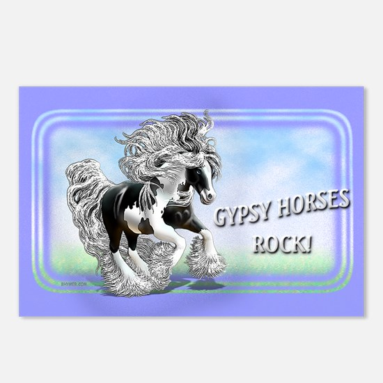Gypsy Horses Rock Postcards (Package of 8)
