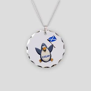 Scotland Penguin Necklace Circle Charm