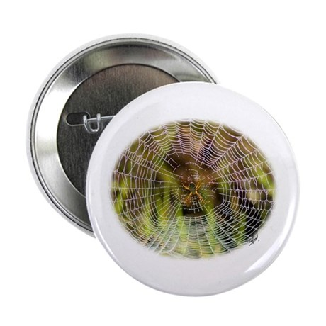 """Spider in a web 9R30D-008 2.25"""" Button (100 pack)"""