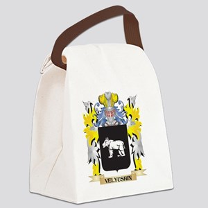 Velyushin Family Crest - Coat of Canvas Lunch Bag