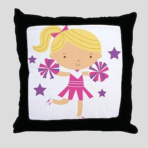 Cute Cheerleader Girl Throw Pillow