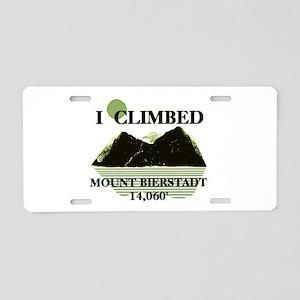 I Climbed Mount Bierstadt Aluminum License Plate