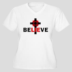 Atheism Women's Plus Size V-Neck T-Shirt