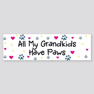 All My Grandkids Have Paws Sticker (Bumper)