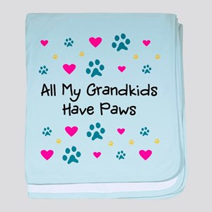 All My Grandkids Have Paws baby blanket