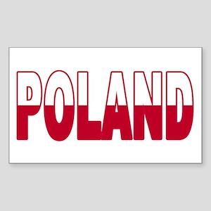 Poland World Cup Soccer Flag Rectangle Sticker