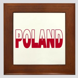 Poland World Cup Soccer Flag Framed Tile
