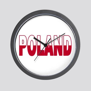 Poland World Cup Soccer Flag Wall Clock
