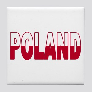 Poland World Cup Soccer Flag Tile Coaster