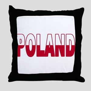 Poland World Cup Soccer Flag Throw Pillow