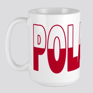 Poland World Cup Soccer Flag Large Mug