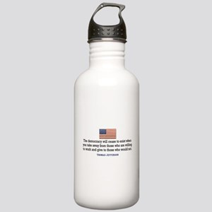 Quote Democracy Stainless Water Bottle 1.0L