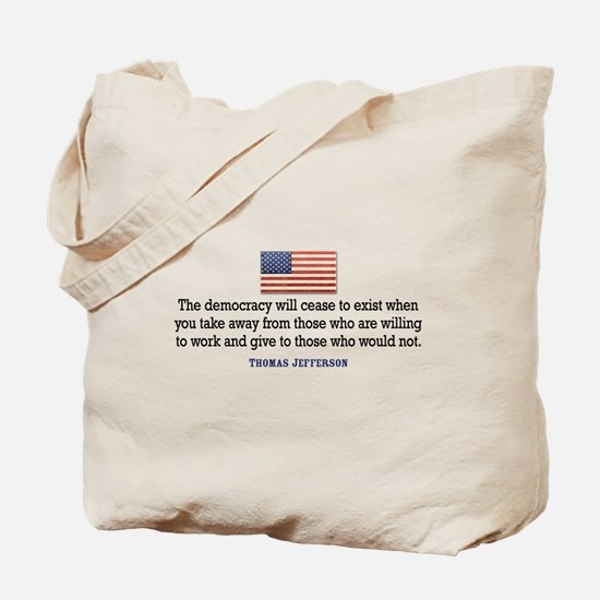 Quote Democracy Tote Bag