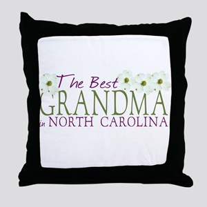 Best Grandma in NC Throw Pillow