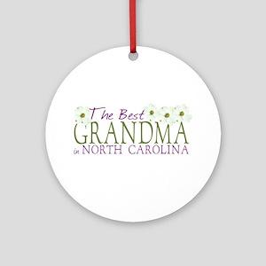 Best Grandma in NC Ornament (Round)