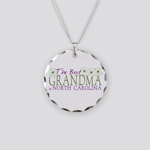 Best Grandma in NC Necklace Circle Charm