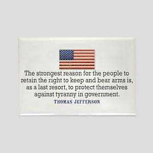 Jefferson 2nd Amendment Rectangle Magnet