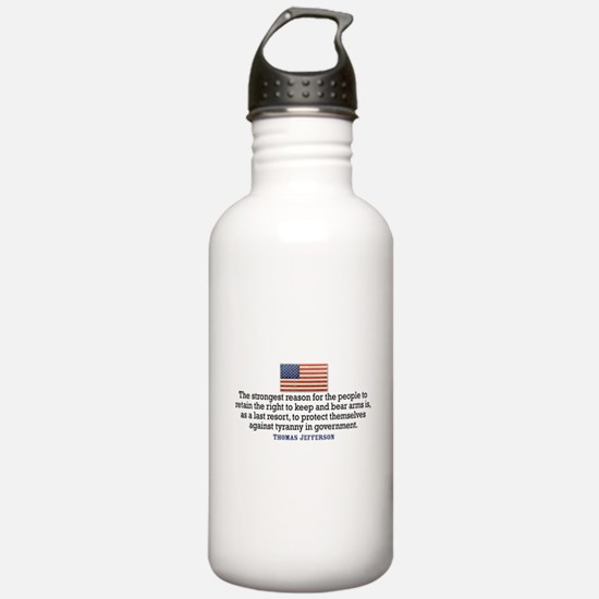 Jefferson 2nd Amendment Water Bottle