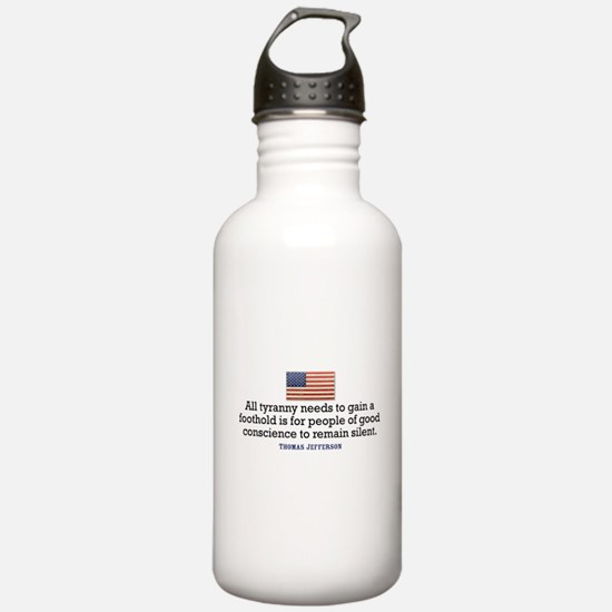 Jefferson Quote on Tyranny Water Bottle