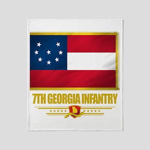 7th Georgia Infantry Throw Blanket