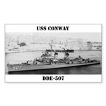 USS CONWAY Sticker (Rectangle)