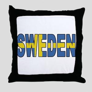 Sweden World Cup Soccer Flag Throw Pillow