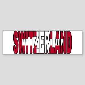 Switzerland World Cup Soccer Flag Bumper Sticker