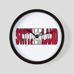 Switzerland World Cup Soccer Flag Wall Clock