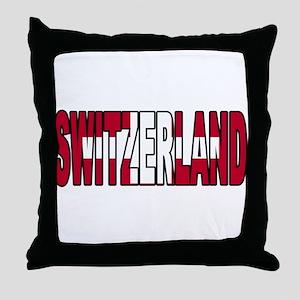 Switzerland World Cup Soccer Flag Throw Pillow