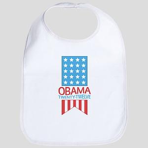 Obama Twenty Twelve Flag Bib